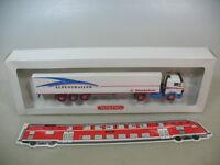 H468-0,5# WIKING H0 510 01, Mercedes Benz MB, Sattelzug, Alpentrailer, NEUW+OVP