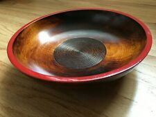 UNIQUE Japanese Wooden Lacquerware Salad Snack Serving Bowl-NEW IN BOX