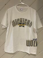 Vintage Michigan Wolverines All Over Print Mens L VTG 90s NCAA Single Stitch