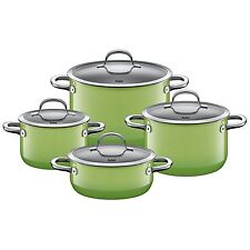 Silit Topf-Set 4-teilig PassionRed Sch�ttrand Made in Germany induktionsgeeignet