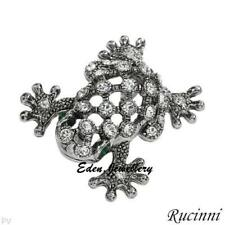 Gorgeous RUCINNI Hollow FROG Crystals Brooch Gift Box Imported from USA 1 Only
