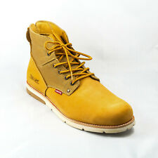 Levis Mens Jax Wheat Casual Leather / Textile Boots Size 13 US New