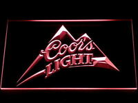 Red Coors Light Led Neon Sign 12x8 Inches bar pub mancave