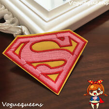 Premium Quality DIY Girl Superman Embroidered Patch Applique Badge Iron on Sew