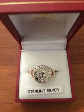 MANCHESTER UNITED F.C. STERLING SILVER RING SIZE X NEW IN BOX