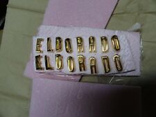 CADILLAC 1957  BROUGHAM HOOD AND TRUNK LETTERS 18K GOLD PLATE 1958