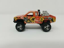 Hot Wheels 1987 Casting Orange Nissan King Cab Pickup Diecast Signs 1:64