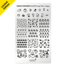 Konad Stamping Nail Art Square Image Plate Happy