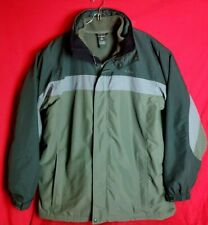 LL Bean Men Tall Large L  Vintage hood Winter Jacket With Removable Lining 0WV93