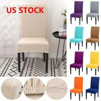 1/2/4PCS Stretch Dining Chair Covers Slipcovers Removable Chair Protective Cover