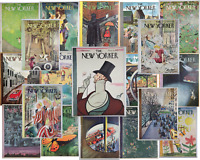 Original Vintage 1953 New Yorker Magazine Illustrated Cover Mid Century Travel