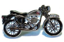 STAR ROCKET ROUND SILVER CLASSIC MOTORCYCLES BIKER ROCKER ENAMEL BADGE BSA