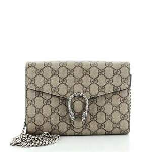 Gucci Dionysus Chain Wallet GG Coated Canvas Small