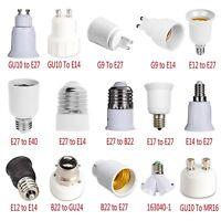 G23/GU10/E27/B22 to E27/E12/E14 Light Bulb Base Socket Lamp Converter Adapter
