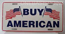 Buy American License Plate USA Flag Patriotic Aluminum Embossed Sign Car Tag