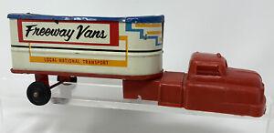 Vintage Wyandotte Plastic & Tin Freeway Vans Local National Transport Truck