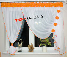 Amazing Voile Net Curtains with Flowers Ready Made Modern (TOP ONE DEALS) New