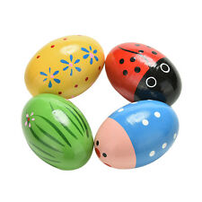1 Pcs Wooden Sand Eggs Children Kids Baby Educational Instruments Musical Toys W