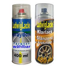 Indischrot Autolack Klarlack im Set je 400ml für Porsche 80K Spraydosen FreiHaus