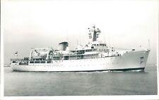 Postcard Sized Photo Royal Navy Survey Ship HMS herald