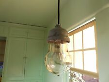 Vtg Industrial Light Explosion Proof Barn Crouse Hinds machine age ceiling