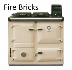 Rayburn Nouvelle/Supreme Fire bricks set of 7 firebricks 355sfw clay cooker