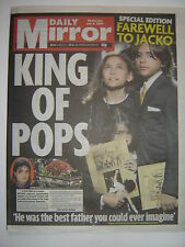 "MICHAEL JACKSON - ""Daily Mirror"" - 8th July 2009 - Funeral Coverage - 9 pages"