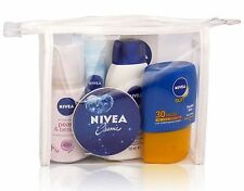 Nivea Damen Travel Mini Sommer Tasche Set-Deo, Lippe, Dusche, Creme & Sonne