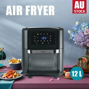 12L Air Fryer LCD Cooker Deep Fryers Oven Oil Free Low Fat Healthy Black