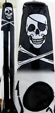 "60"" Embroidered Jolly Roger Pirate Flag 100% Polyester Wind Sock W/Grommets"