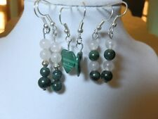 Malachite and Moonstone Earring lot