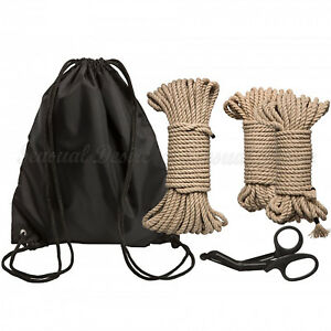 Kink Bind And Tie Initiation 5 Piece Hemp Rope Kit Sensual Desire Shibari