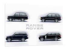 Range Rover Model Range - 30x20 Inch Canvas - Framed Picture Print Landrover