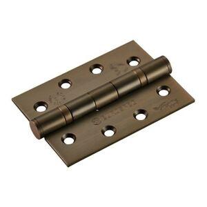 "Antique Brass Hinges Ball Bearing Fire Door 4""/100mm Per Hinge Including Screws"