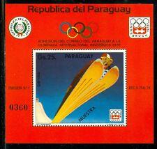 Paraguay Olympische Spiele Olympic Games 1976 Innsbruck MUESTRA skijumping block