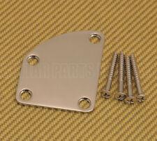 NP-DLX-N  Deluxe Cutaway Heel Guitar Neck Plate Kit w/ Mounting Screws - Nickel
