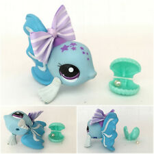 ❤️Authentic Littlest Pet Shop #2266 Fashion Spotlight Blue Fish Purple Stars ❤️