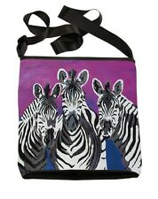 Zebras Small Cross Body Bag - Support  Wildlife Conservation, Read How!