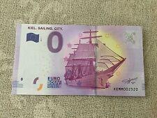 Kiel Sailing City Gorch Fock 2017-1 MM Null € 0-Euro-Souvenir Schein Banknote