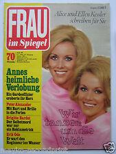 Frau im Spiegel  29/1972, Peter Alexander, Brigitte Bardot, Erik Ode, Gustav Knu