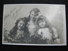 CPA  vintage Petites filles des années 20 Carte de Voeux