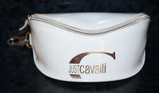JUST CAVALLI SUNGLASSES CASE Pouch Cover Travel Eye Glasses White Zipper Frames