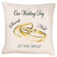 Personalised Wedding Day Keepsake Cushion