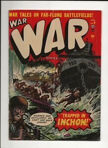 War Comics #9 1952 Atlas Marvel Golden Age War Comic Maneely Heath art GD/VG