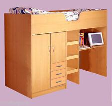 BOURNE LOFT STYLE HIGH SLEEPER CHILDRENS CABIN BED BEECH R1610B