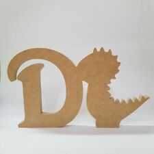 18mm mdf Dinosaur and Letter Shape - 200mm high - MDF Wooden Craft Blank