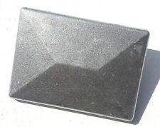 Pfostenkappe Abdeckkappe Aluminium  Natur Doppelstabmattenzaun Pfosten 40x60mm