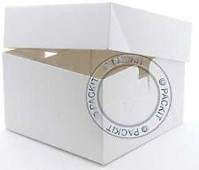 """Color blanco cajas de Cartón cuadradas para tartas 12 """"X 12"""" X 6 """" Cumpleaño..."""