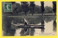 cpa FRANCE CRÉTEIL Val de Marne PÊCHEUR de GOUJON Barques Canne à Pêche Fishing