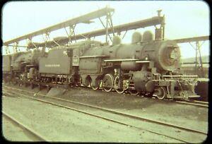 Original Railroad Slide OSLD D&H 946 Steam 2-8-0 Oneonta NY circa 1950s